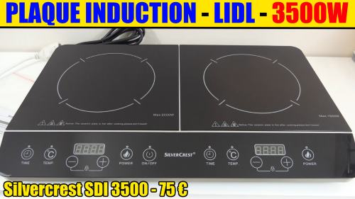 lidl plaque induction silvercrest sdm 3500w avis accessoires test notice caract ristiques. Black Bedroom Furniture Sets. Home Design Ideas