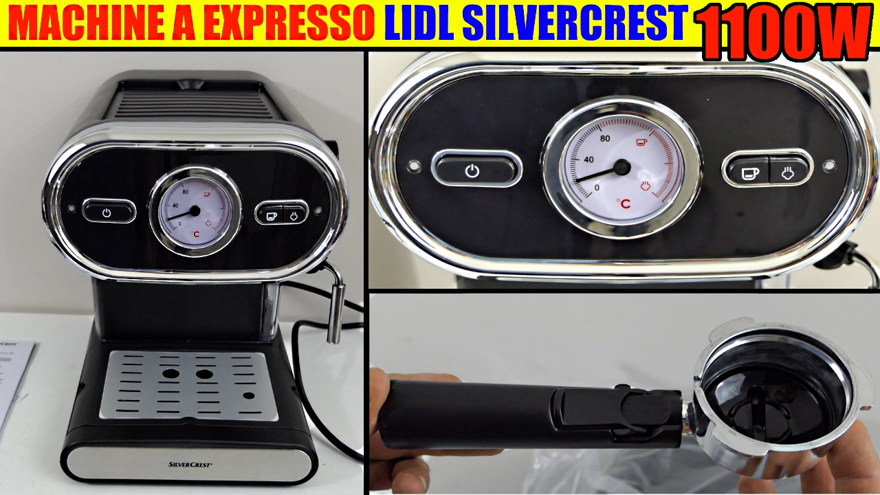 Lidl Machine à Expresso Café Silvercrest Sem 1100 W