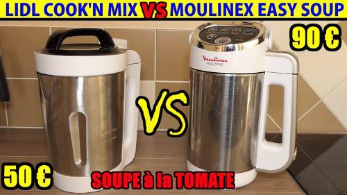 lidl blender chauffant cook 39 n mix vs moulinex easy soup comparatif soupiere soupe tomate recette. Black Bedroom Furniture Sets. Home Design Ideas