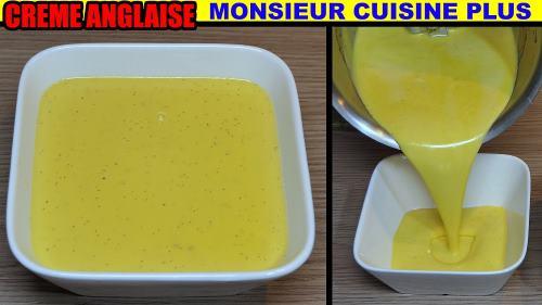 cr me anglaise recette monsieur cuisine plus thermomix